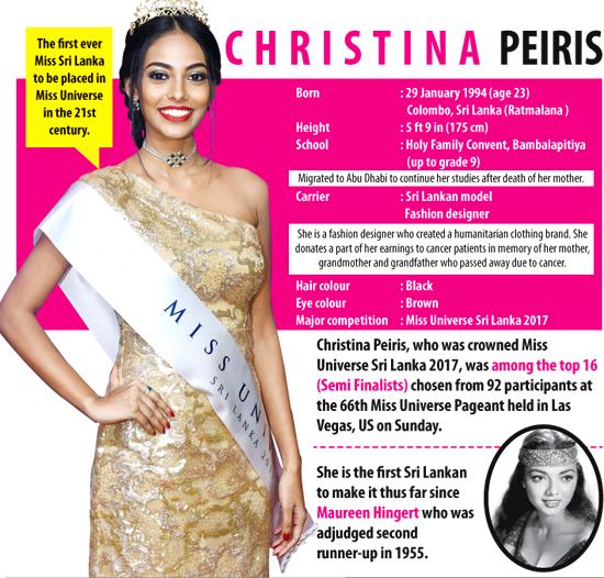 Christina In Top 16 Sunday Observer