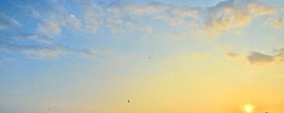 The breathtaking view of sunrise over Urusitana Wewa.