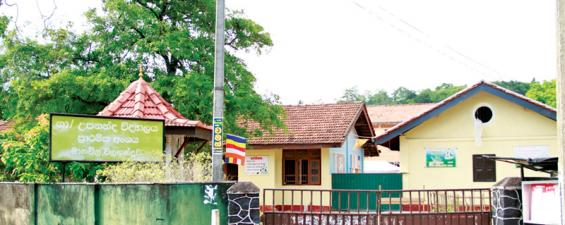 Crime scene, Upananda Primary school, Manawila, Galle .  Pix: Dushmantha Mayadunne
