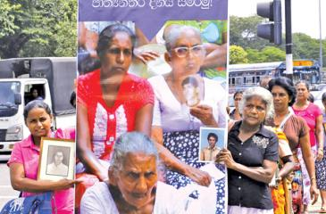 Demonstration by the families of the disappeared