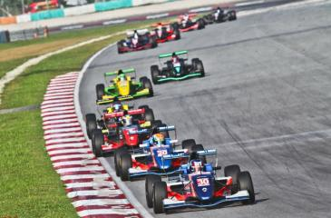 Eshan Pieris in action on the Sepang Circuit, Malaysia
