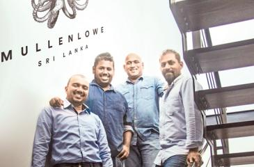 MullenLowe Sri Lanka's Executive Committee. From left –  Director, Client Service, Sean Pompeus; Senior Vice President and Executive Creative Director, Dilshara Jayamanna;  Chief Executive Officer Thayalan Bartlett and Vice President and Executive Creative Director, Chandu Rajapreyar.