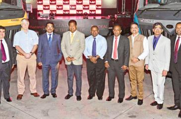 Officials of Mahindra and Ideal Motors at the launch