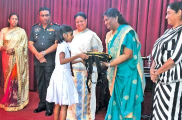 Children were awarded with scholarships and school supplies by the distinguished guests in attendance.