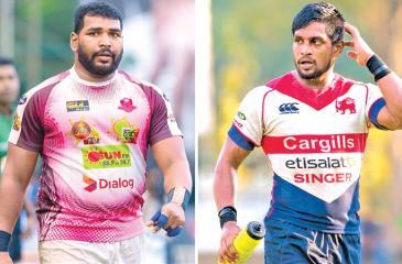 Dushmantha Priyadarshana Havelock SC captain and Roshan Weeraratne Kandy SC captain