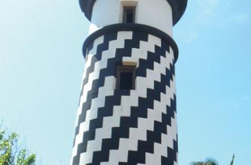 The renovated old lighthouse
