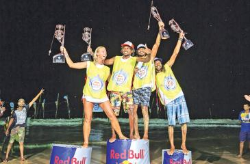 RDS Surf School, the winners of the Red Bull Levels at Karma Beach, Mirissa.