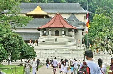 The Sri Dalada Maligawa in Kandy is a UNESCO World Heritage site.PIC: LAKE HOUSE MEDIA LIBRARY