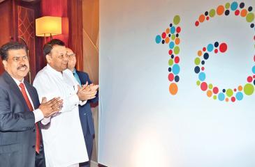 Minister Mahinda Samarasinghe at the launch of the social marketing campaign.Pic: Vipula Amarasinghe