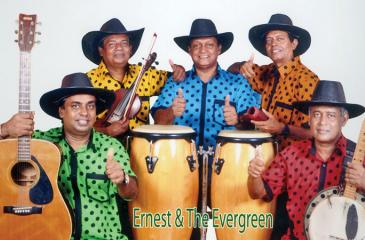 From left: Lawrence, Reiss, Duncan Fernando, Tyrone Ramanathan, Daya Rohitha, and Ernest Fernando (Band Leader).