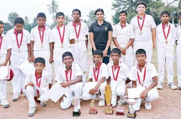 The winning CCC School of Cricket team