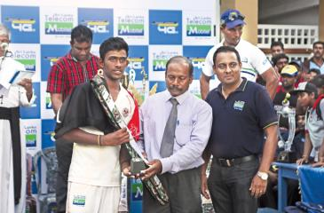 Kanakarathnam Kapilraj who won the man of the match and best bowler awards with a bag of 12 wickets.