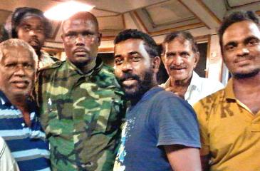 The Sunday Observer received this exclusive picture of the Sri Lankan crew after their release by the Somali pirates (Pic courtesy ARIS 13 crew)
