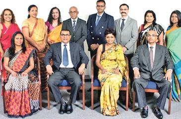 Seated from left: Secretary Roshani Fernando  (Quantum Consumer Solutions), Immediate Past President Ravi Bamunusinghe (RCB), President Himalee Madurasinghe (Kantar LMRB), Treasurer Waruna Kathriarachchi  (Nielsen Lanka).   Standing from left: Assistant Treasurer Mihirani Dissanayake  (Kantar TNS), Chitrangani Herat Gunaratne (Quantum Consumer Solutions), Therika Meyandeniya (Nielsen Lanka), Neel de Silva (SRL), Anura Karunaratne (Kantar TNS), Sharang Pant (Nielsen Lanka), Assistant Secretary Prajika Fernan