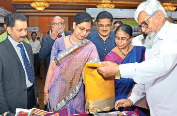 Textiles Expo-Colombo 2017 was inaugurated by Secretary Ministry of Development Strategies and International Trade, Mrs. Chandani Wijewardana. First Secretary, Commerce, High commission of India, Ms. Suja Menon, Apparel Exporters Association Chairman, Felix Fernando, Vice Chairman PDEXCIL Sunil. S. Patil, and Past Chairman PDEXCIL M. Duraisamy were also present. Picture by Thushara Fernando