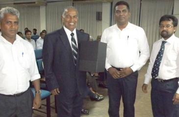 Ariyaseela Wickramanayake with the members of the PSES.