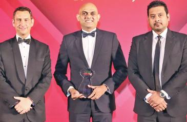 Group Head of Islamic Finance, LOLC, Krishan Thilakaratne and Deputy General Manager, Al-Falaah, Islamic Business Unit of LOLC Finance, Shiraz Refai with Managing Director and Publisher of REDmoneySdnBhd, Andrew Morgan.