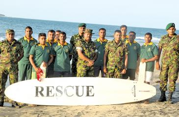 Life saving team