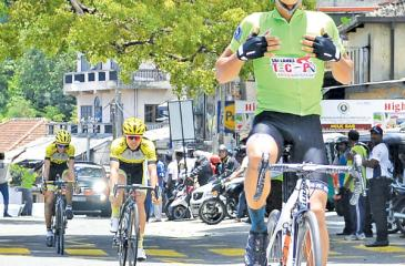 George Luis Oconer of the Philippines wins the second stage (Pic by Saman Mendis)