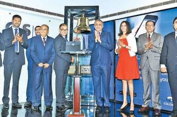 BPPL rang the opening bell to commence trading and celebrate the listing of its shares on the Colombo Stock Exchange recently.. From left: CSE CEO Rajeeva Bandaranaike, Head of Brush-ware Operations, BPPL, B.D. Prasad Devapriya Perera, BPPL Finance Director Vaithilingam Selvaraj, Chairman, BPPL, Sarath Amarasinghe, BPPL, MD Dr. Anush Amarasinghe, CSE Chairman Vajira Kulatilaka, Consultant, CT CLSA, Marianne Page, CSE Director M. R. Prelis and CEO, CT CLSA Capital, Zakir Mohamedally.