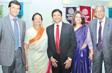 Mala with her sons Mahen and Kamil, daughter-in-law Nimali and husband Sinha