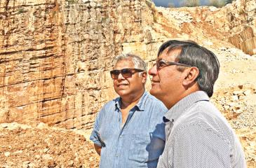 Altair Directors Pradeep Sureka (right) and Pradeep Moraes at a marble quarry in Northern Italy.