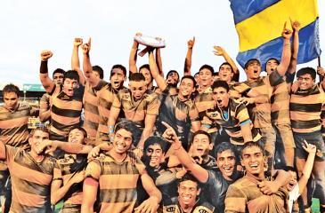 Victorious Royal College team with the prestigious Bradby Shield.Pix : Thilak Perera