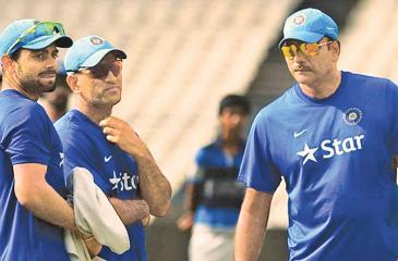 Kohli, Dhoni and Shastri together