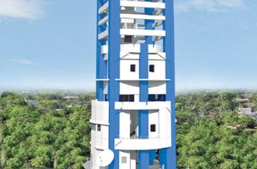 Model of the radar tower to be  built in Puttalam