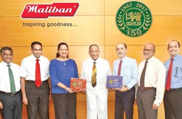 Maliban teams up with The Ceylon Tea Board to celebrate 150 years of Tea in Sri Lanka. From left: Director Wickramapala, Director T. Samaraweera, Managing Director Kumudika Fernando, Chairman Maliban Biscuits, A.G.R Samaraweera, Chairman, Sri Lanka Tea Board, Dr. Rohan Pethiyagoda, Chairman, CTTA and Euro Scan Exports, Anslem Perera and  CEO, Asia Siyaka Commodities PLC.,  Anil Cooke.