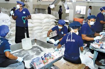 Packing of salt
