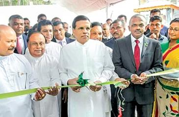 President Maithripala Sirisena opens the plant
