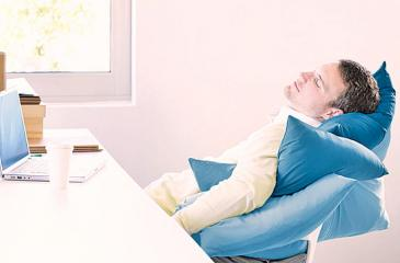 Naps at work can make you more productive. Maybe, don't be this obvious about it, though.
