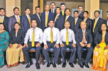The Janashakthi team with members of  the management
