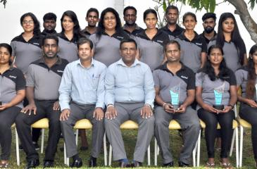 The Eskimo team: Seated (from left): T.A. Pupudu Kumari, Dilruk Prasanna Kumara, Christoper Jayasundara, Sumith Samaradiwakara, Manjula de Silva, M.D. Renuka Jayasinghe, and K. Inosha P.Fernando. Standing (from left): First row - Chrishani Mendis, Nishadi Samarasinghe, Indrani Rupasinghe, Nilukshi Karunathilaka, A.G.B.C. Shashikala,Nisansala Madushani, Raveesha Madushani. Second row - N.M. Madusanka, Rohitha Jayakody, Jude Shriyantha Fernando, Upul Sampath, R.V.A. Dishan Pravishka.