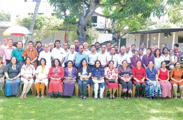 The staffers of yesteryear who turned up to reminisce the good old days at the 'House on the Lake'