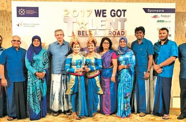 The CILT SL team with the WiLAT dance performers who won the  'Bbest originality and creativity' award