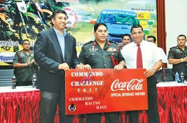 (L-R) Country Sales and Commercial Manager Shamal Gunawardene, Chairman Commando Challenge 2017 Major General, Ralph Nugera and President, SLARDAR Nishan Wasalathanthri.