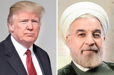 President Donald Trump and President Hassan Rouhani