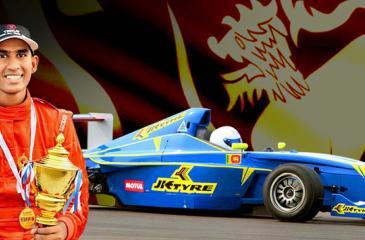 Racing driver Bryan Perera