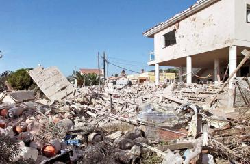 The destroyed house in Alcanar.