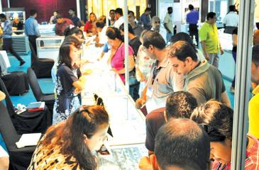 Large crowds gathered at the exhibition last year