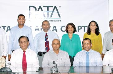 The new committee: Standing (from left): Cammy Gunasekera, Dimitri Cooray, Asitha Panabokke, Ratten Abdulhussein, Shamali De Vaz, and Ruan Samarasinghe. Seated (from left): Secretary of the PATA Sri Lanka Chapter, Lakshika Perera, Zahara Cader, Sega Nagendra, Vice Chairman Prabath Harshakumar, Chairman Denesh Silva, Vice Chairman Muaiyyed Idroos, and Imme. Past Chairman Hussain Jayah.