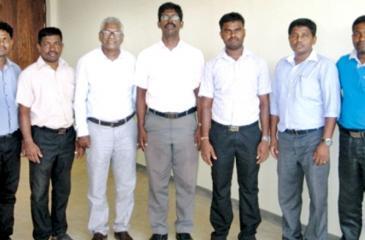 From left: T. Jayakanth, S. Jeganathan, Co-ordinator, Kelani Shakthi, Jayantha Wijesinghe, Course Director, Kelani Shakthi, Dr. T. Thiruvaran, S. Theneswaran, S. Siva Yogarajan, S. Elanganathan.