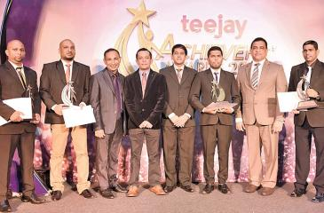 Teejay's Employees of the Year winners in the category of Staff with senior management at the 2017 Achievers' Awards.