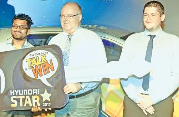 The winner receives the Hyundai Grand i10 car .PIC: VIPULA AMERASINGHE