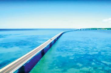 Okinawa's famous 3.5km-long Irabu bridge