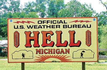 Hell, Michigan  (Pic: Wikimedia)