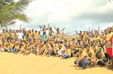Unity is strength...The beach area community around Turyaa Kalutara, staff of Turyaa Kalutara, TUI staff in Sri Lanka and the staff of Aitken Spence Travels who cleaned the beach.