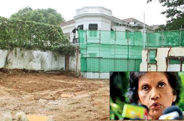 The land on which the Rosmead Place residence of the late Anura Bandaranaike was. Pic: Sudam Gunasinghe